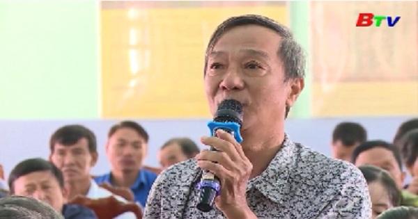 Đoàn Đại biểu Quốc hội tỉnh tiếp xúc cử tri xã Long Tân, huyện Dầu Tiếng