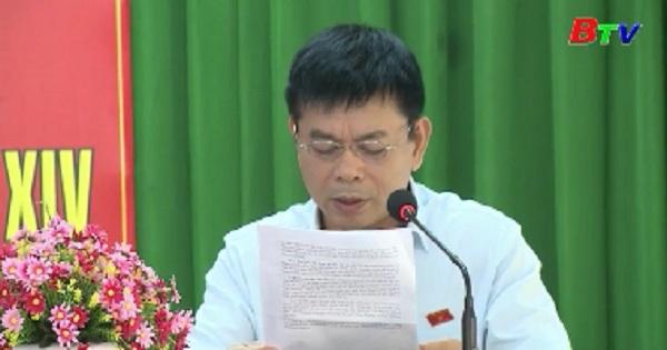 Đoàn Đại biểu Quốc hội tỉnh tiếp xúc cử tri phường Phú Hòa, Tp.Thủ Dầu Một