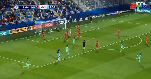 Bảng B – VCK U21 Châu Âu 2017- Bồ Đào Nha 4-2 Macedonia