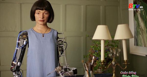 Tác phẩm điêu khắc của nghệ sĩ robot AI đầu tiên trên thế giới
