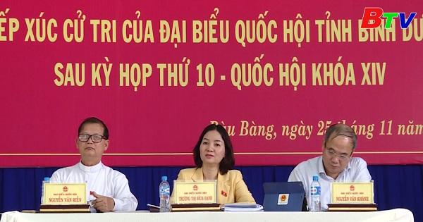 Đại biểu Quốc hội tỉnh Bình Dương tiếp xúc cử tri thị xã Bến Cát