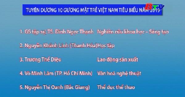 Tuyên dương 10 gương mặt trẻ Việt Nam tiêu biểu 2019