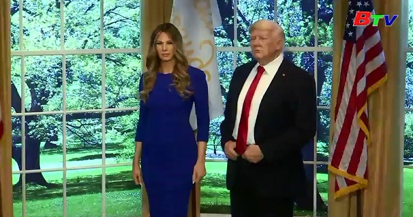 Bảo tàng Madame Tussuads New York  ra mắt tượng sáp đệ nhất phu nhân Mỹ Melina Trump