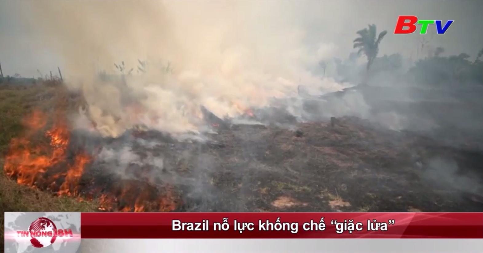 """Brazil nỗ lực khống chế """"giặc lửa"""""""