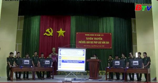 Trung đoàn 165, Sư đoàn 7 - Hội thi tuyên truyền, phổ biến, giáo dục pháp luật
