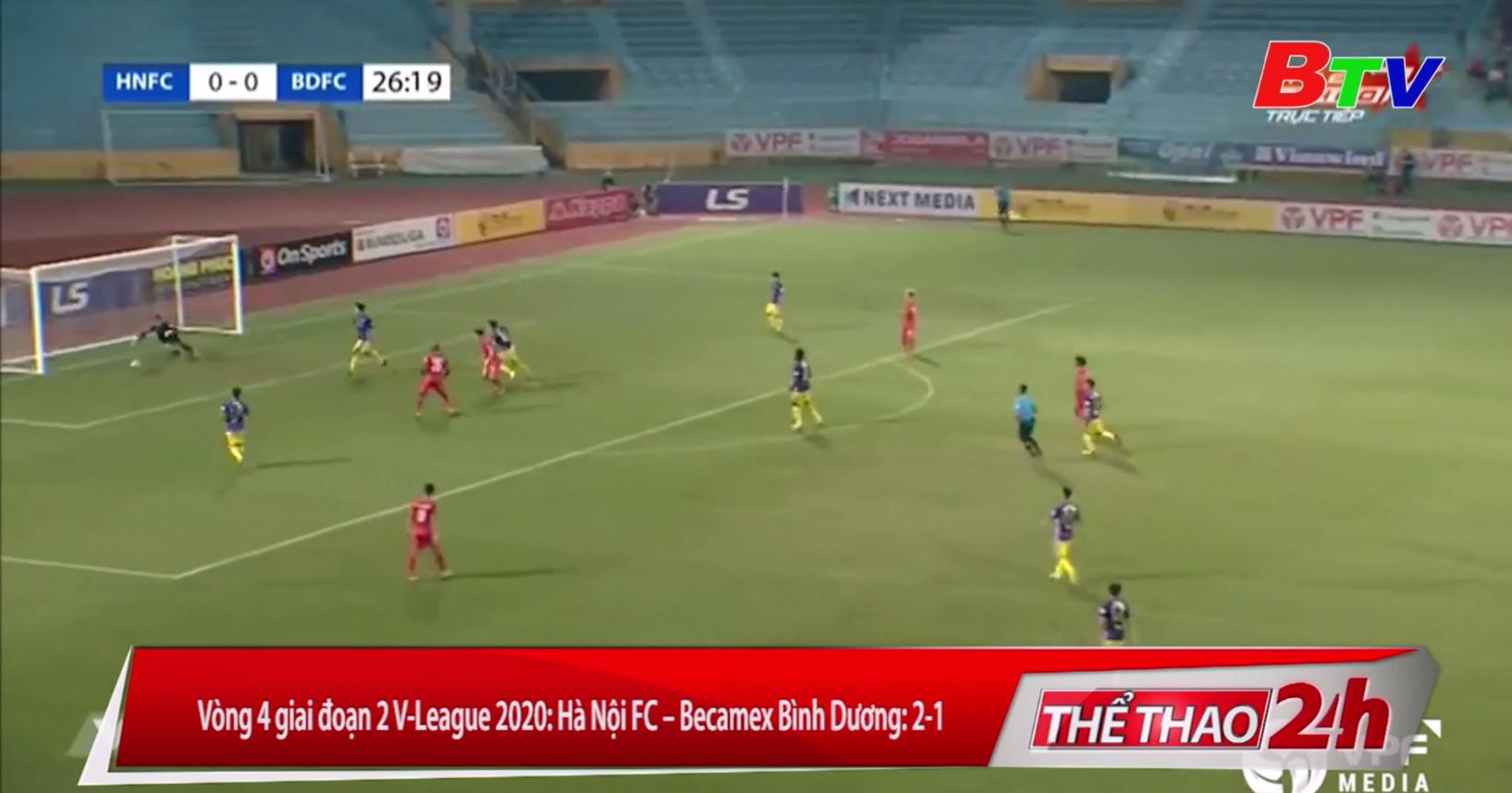 Vòng 4 giai đoạn 2 V-League 2020 – Hà Nội FC 2-1 Becamex Bình Dương