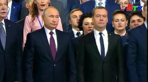 Đảng Nước Nga thống nhất ủng hộ Tổng thống V. Putin tái tranh cử