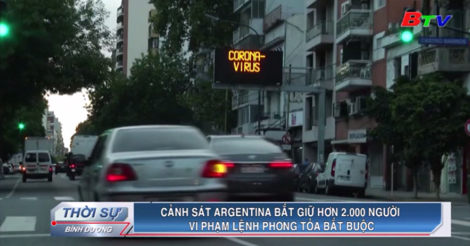 Cảnh sát Argentina bắt giữ hơn 2.000 người vi phạm lệnh phong tỏa bắt buộc