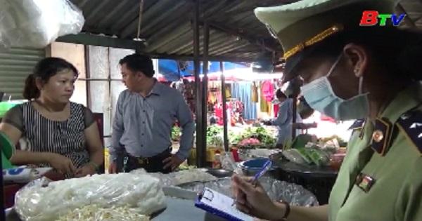 Thành phố Thuận An kiểm tra an toàn vệ sinh thực phẩm tại các chợ