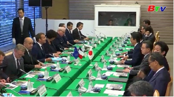 Lãnh đạo Nhật Bản, Pháp nhất trí thúc đẩy hợp tác an ninh hàng hải