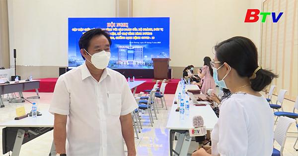 Trao đổi với Ông Nguyễn Hoàng Thao - Phó Bí thư thường trực Tỉnh ủy – về việc thực hiện Chỉ thị 16 trên địa bàn tỉnh Bình Dương