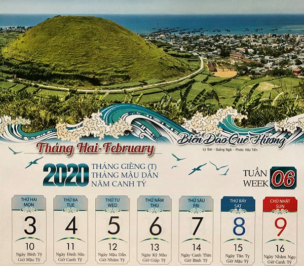 Biển đảo ngập tràn lịch Xuân 2020