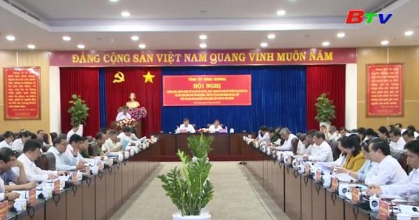 Bình Dương lấy ý kiến dự thảo Báo cáo Chính trị trình Đại hội lần thứ XI Đảng bộ tỉnh