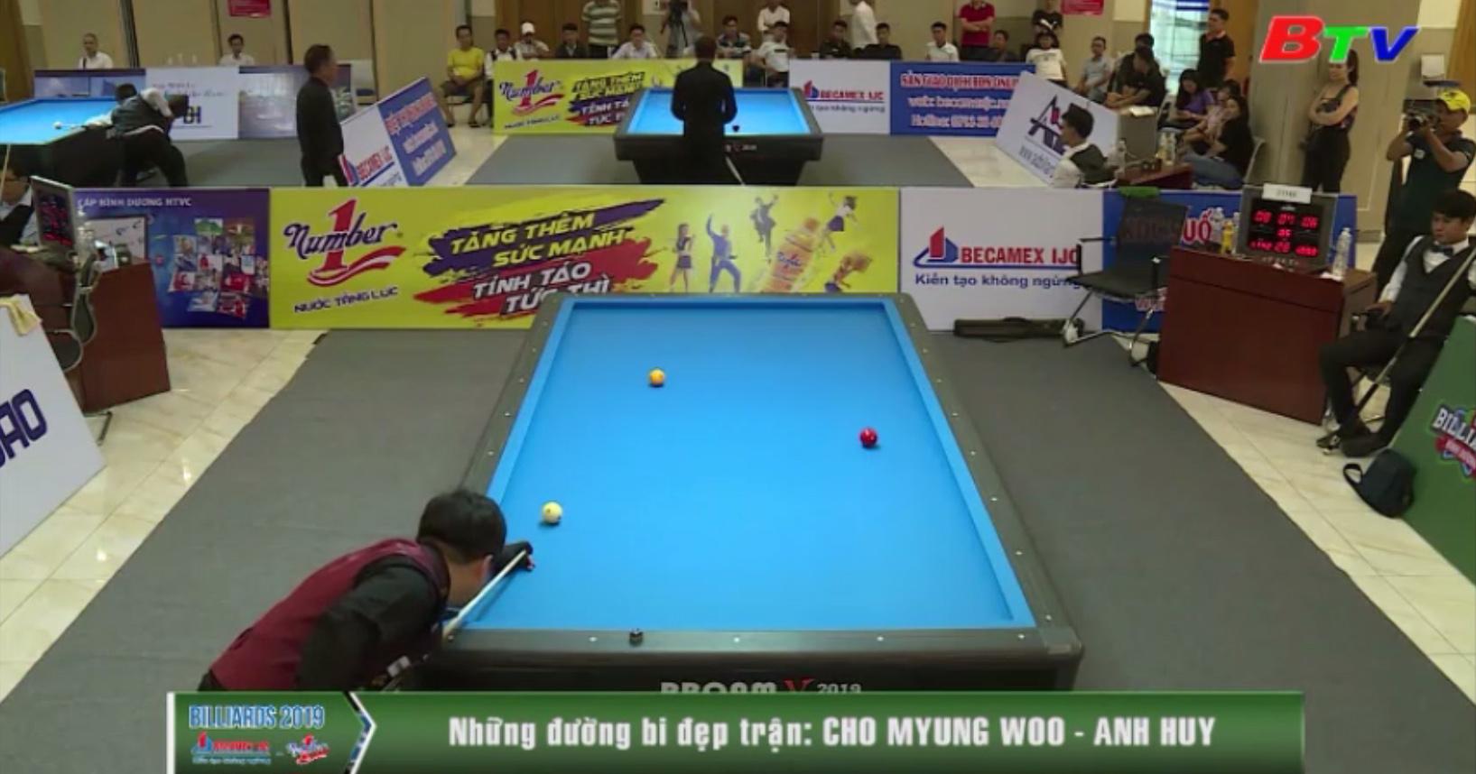 Giải Billiards Carom 3 băng Quốc tế Bình Dương lần VIII năm 2019 - Những đường cơ đẹp trận Cho Myung Woo - Anh Huy