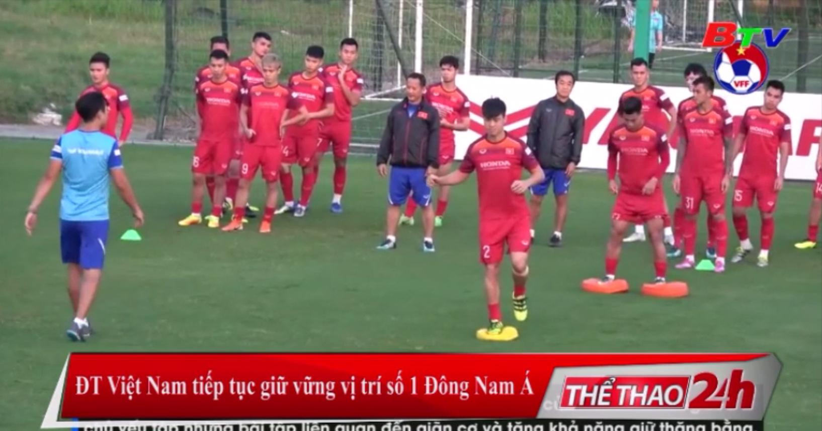 ĐT Việt Nam tiếp tục giữ vững vị trí số 1 Đông Nam Á