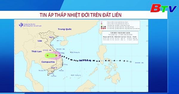 Tin áp thấp nhiệt đới trên đất liền