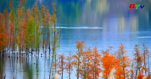 Ngắm cảnh sắc thiên nhiên đẹp như tranh vẽ ở Hồ Hán Phong, Trung Quốc