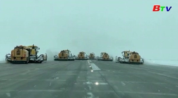 Bão tuyết làm tê liệt giao thông trước thềm lễ Tạ ơn ở Mỹ