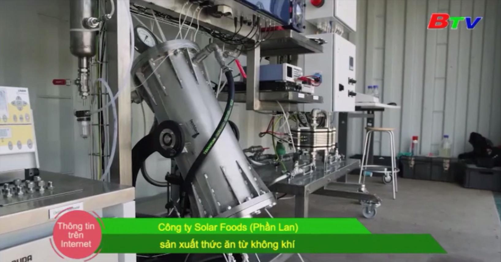 Công ty Solar Foods (Phần Lan) sản xuất thức ăn từ không khí