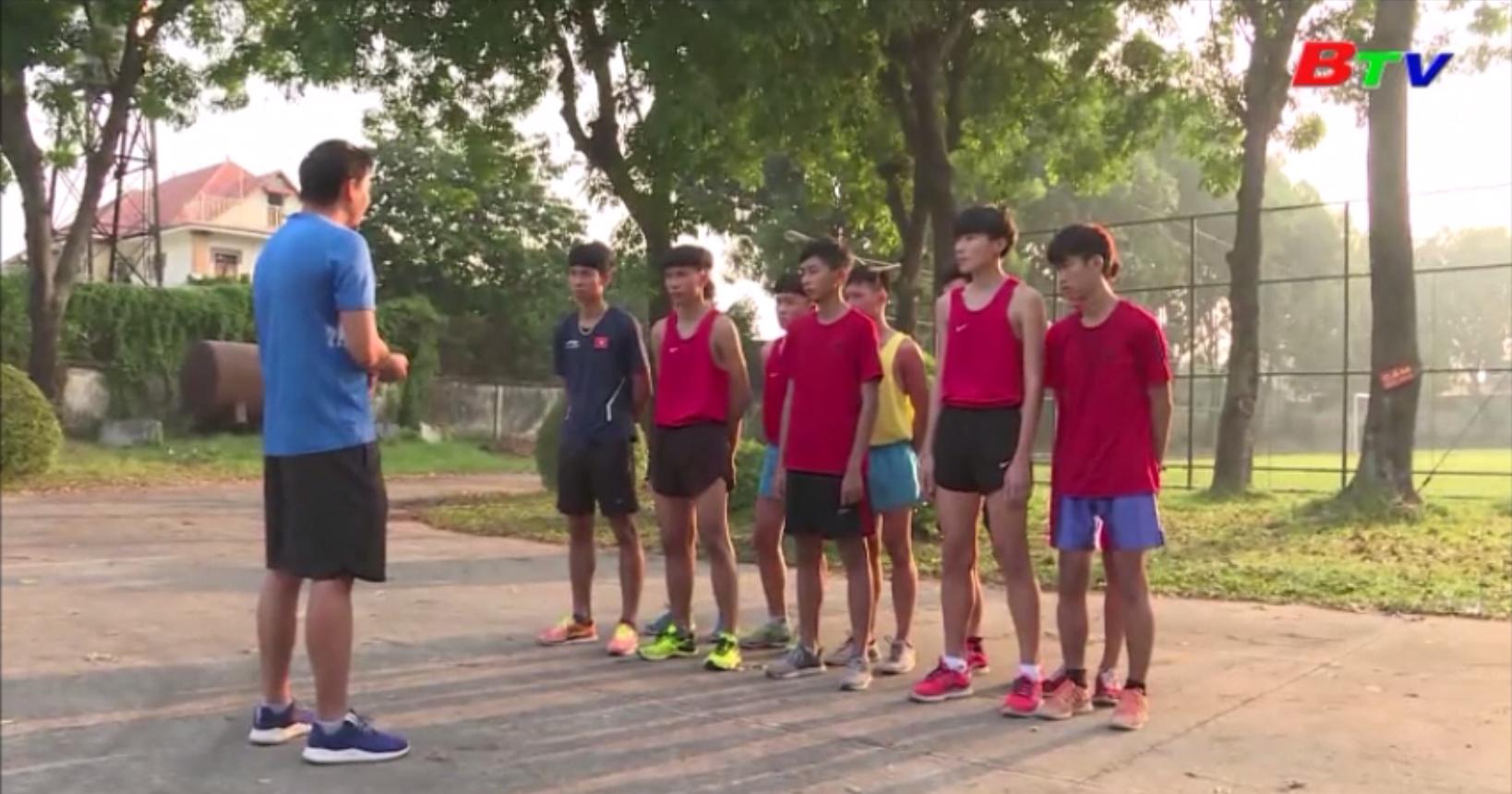 Đội tuyển điền kinh Bình Dương chuẩn bị Giải Việt dã Chào năm mới BTV Number 1 lần thứ XXI năm 2020