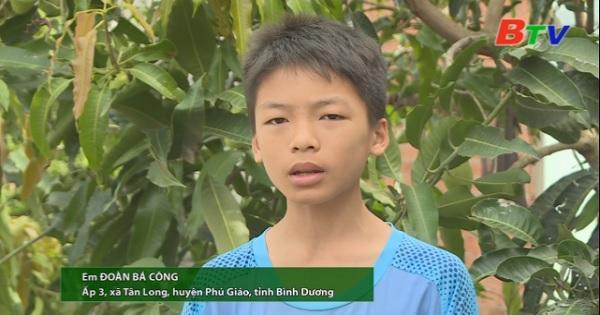 San Sẻ Yêu Thương - Hoàn cảnh em Đoàn Bá Công (Ấp 3, xã Tân Long, huyện Phú Giáo, Bình Dương)