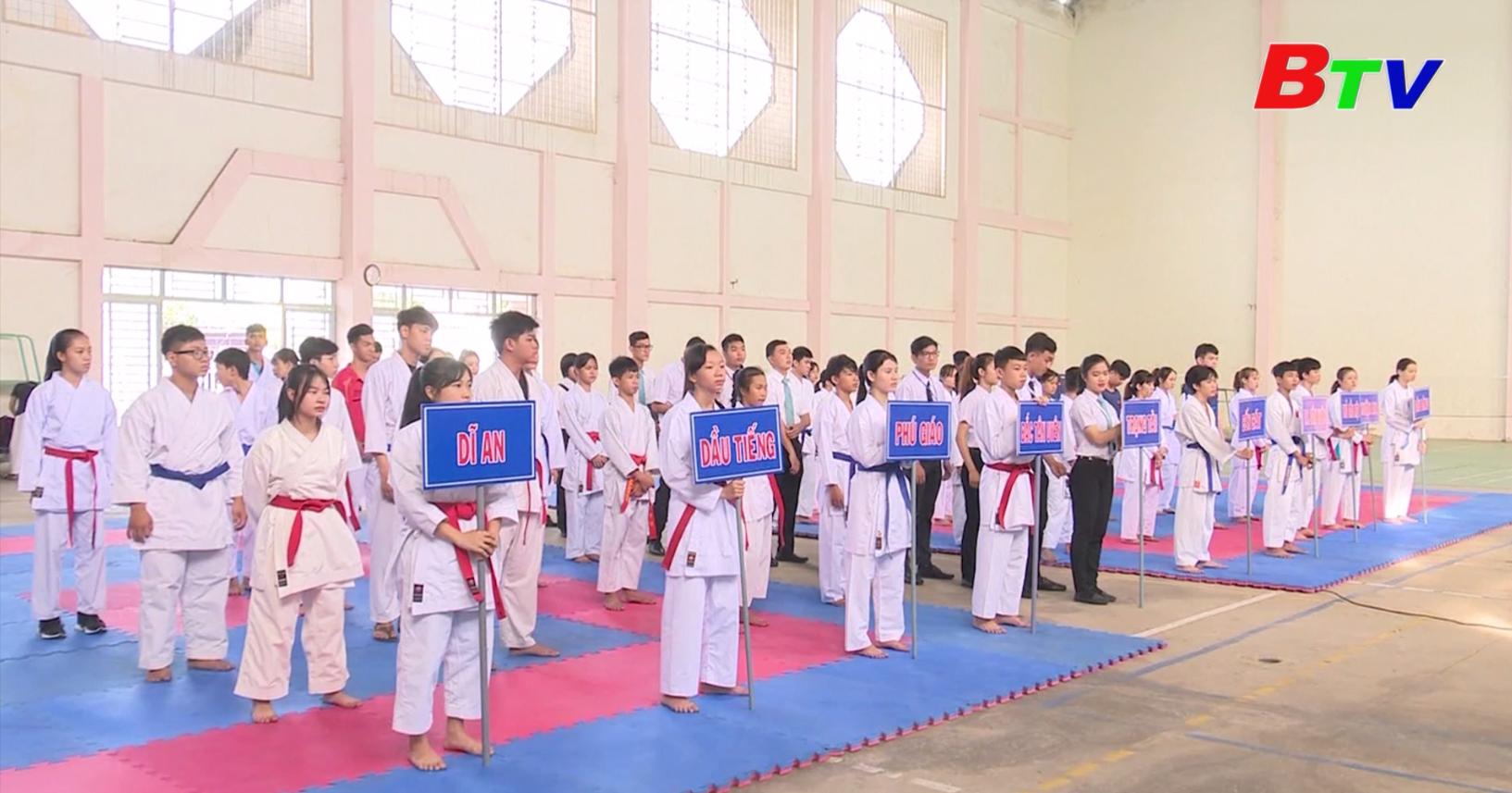 Thị xã Tân Uyên đăng cai tổ chức Giải vô địch Karate tỉnh Bình Dương năm 2020