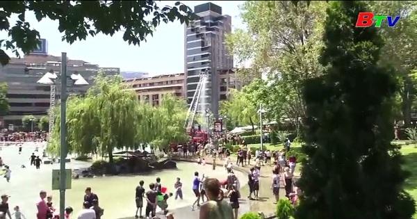 Giải nhiệt mùa hè với lễ hội té nước ở Armenia
