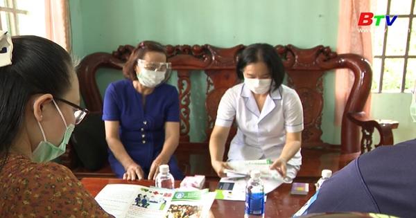Ngành dân số huyện Bàu Bàng vượt qua khó khăn do ảnh hưởng dịch Covid-19