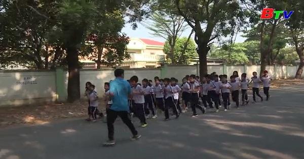 Trường tiểu học Bình Chuẩn quyết tâm bảo vệ thành tích thi đấu
