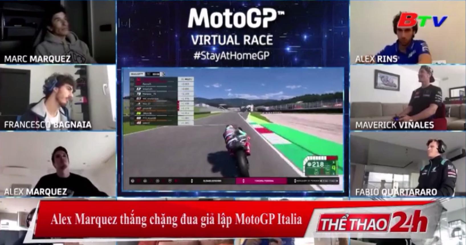 Alex Marquez thắng chặng đua giả lập MotoGP Italia