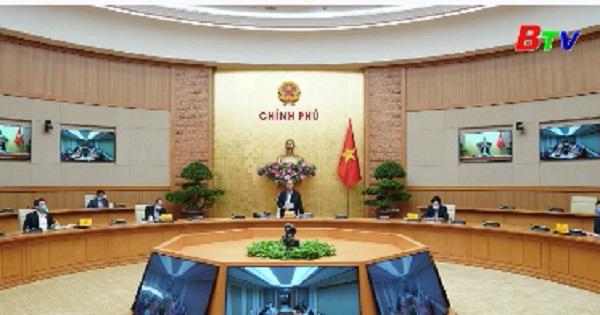 Thủ tướng Nguyễn Xuân Phúc chủ trì cuộc họp thường trực Chính phủ về công tác phòng chống dịch COVID-19