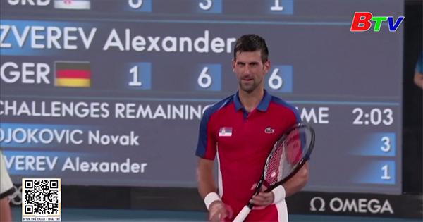 Novak Djokovic dừng bước tại bán kết môn quần vợt Olympic 2020